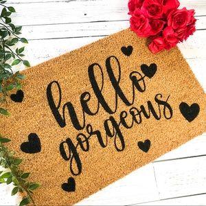 Hello Gorgeous Doormat